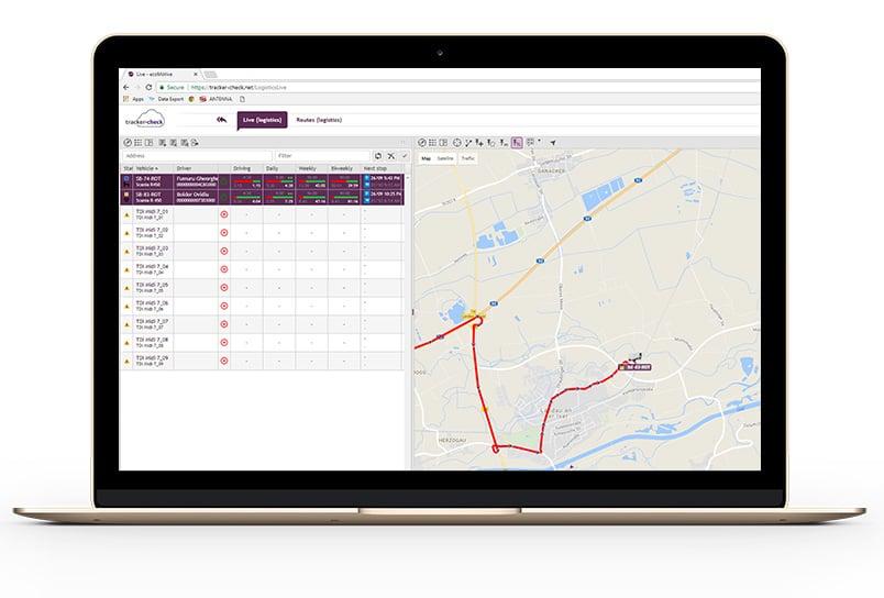 tracker-check app view